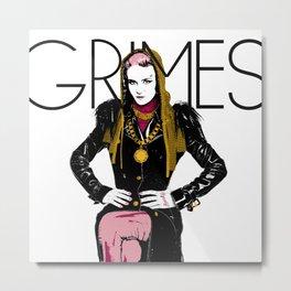 Grimes Metal Print