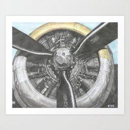 B-17 prop Art Print