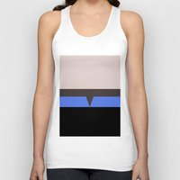 hologram Tank Tops featuring The Doctor - Minimalist Star Trek Voyager VOY - startrek - Trektangle Trektangles - EMH by Trektangles