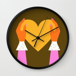 My Heart to Give Wall Clock