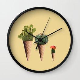 3 Cactus Wall Clock