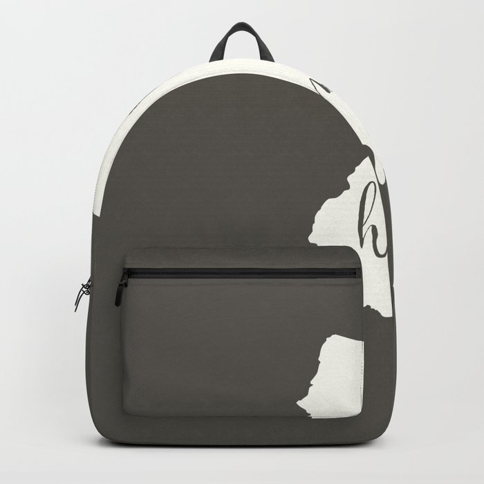 New Jersey is Home - White on Charcoal Backpack