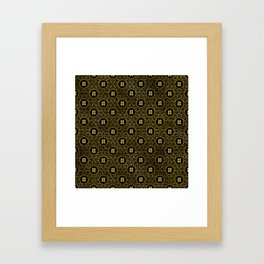 Gold Double Happiness Symbol in lotus pattern Framed Art Print