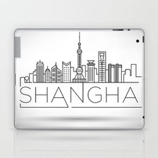 Linear Shanghai Skyline Laptop & iPad Skin