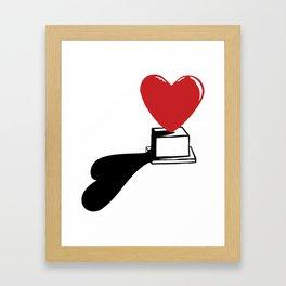 Pedestal love Framed Art Print
