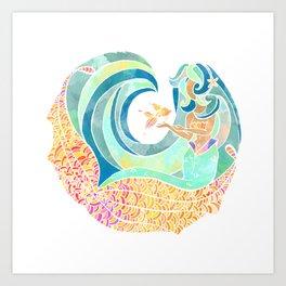 Sea friends Art Print