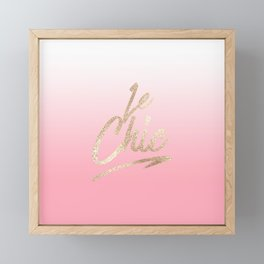 Gold Le Chic French Quote Pink Gradient Framed Mini Art Print