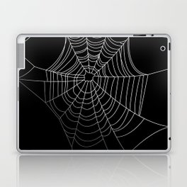 Spider Web Art   Halloween Collection   Spooky   Scary   Vector Art   Black and White Laptop & iPad Skin