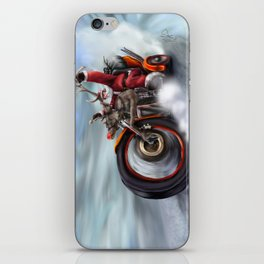 Santa's New Sleigh iPhone Skin