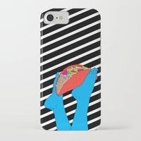 taco iPhone & iPod Cases featuring Taco Time by Tyler Spangler