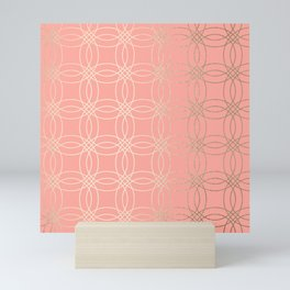 Simply Vintage Link in White Gold Sands and Salmon Pink Mini Art Print