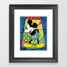 Mickey Spotlight Framed Art Print
