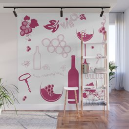 Wine Background Pattern - 05 Wall Mural