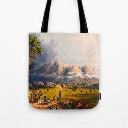 Esmeralda On The Orinoco Illustrations Of Guyana South America Natural Scenes Hand Drawn Tote Bag