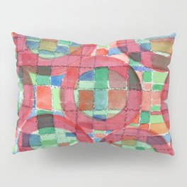 Red Magical Rings Pillow Sham