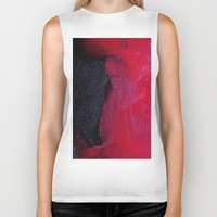 oil Biker Tanks featuring Red oil by Margheritta