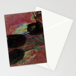 Shadows of Tulips on the Sidewalk Stationery Cards