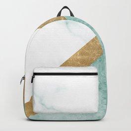 Marble luxe - jade teal Backpack