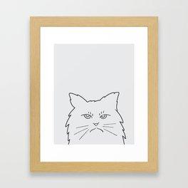 Angry Kitty Framed Art Print