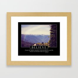 Believe - Motivational Series Framed Art Print