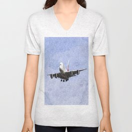 Emirates A380 Airbus Oil Unisex V-Neck