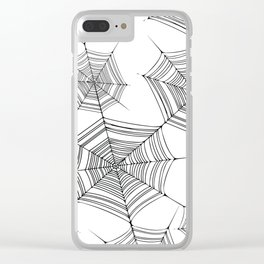 Spiderweb Clear iPhone Case