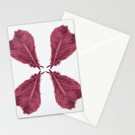 Feather Fan - Bordeux Stationery Cards