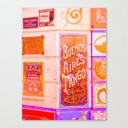 Tango Buenos Aires, Argentina. Canvas Print
