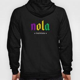 NOLA New Orleans Louisiana Nawlins Mardi Gras Hoody