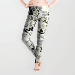 Watercolor of leaves Leggings