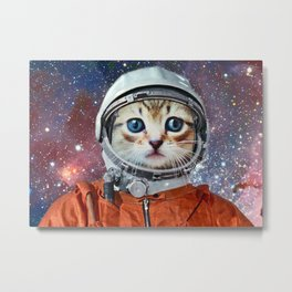 Astronaut Cat #4 Metal Print