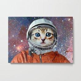 Astronaut Cat #4 Metal Print