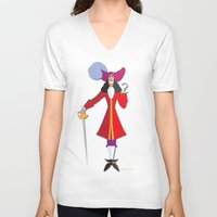 captain hook V-neck T-shirts featuring Captain Hook by AmadeuxArt