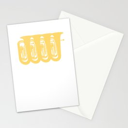 Tuba Player Gift Idea Stationery Cards