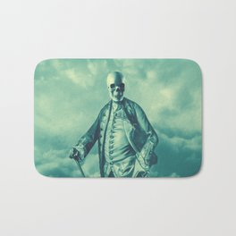 Lord Bonehead VINTAGE GREEN / Skeleton portrait Bath Mat
