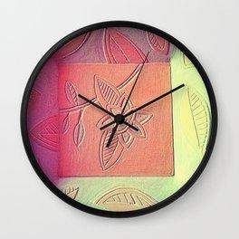 korean orchid Wall Clock