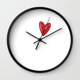 Famous & Fabulous Bias Tshirt Design I love bias Wall Clock