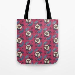 Macaques & Squash (magenta) Tote Bag