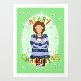 Merry Mug Art Print