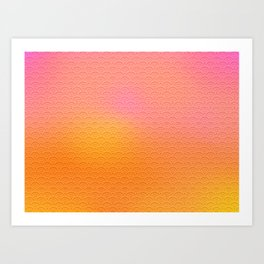 sunset scales Art Print