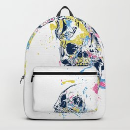Skulls and Watercolor Spashes Backpack