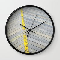 boardwalk empire Wall Clocks featuring BOARDWALK by TMCdesigns