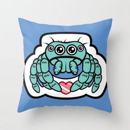 Kawaii Spider! Throw Pillow