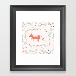 fox & grapes Framed Art Print