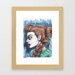 """La tresse"" Framed Art Print"