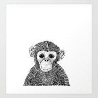 Chimpanzee Art Print