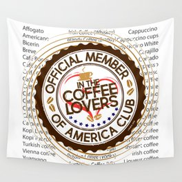 Coffee Lovers of America Club by Jeronimo Rubio 2016 Wall Tapestry