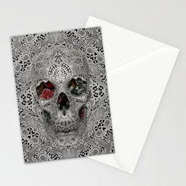 Lace Skull 2 Stationery Cards