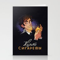cigarettes Stationery Cards featuring Smoke Cigarettes by grrrenadine