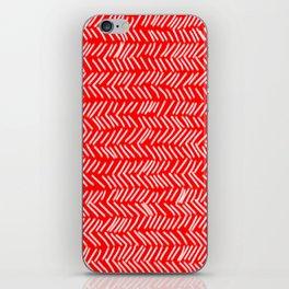 Scarlet Herringbone Lines iPhone Skin